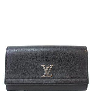 Louis Vuitton Lockme II Calfskin Leather Wallet